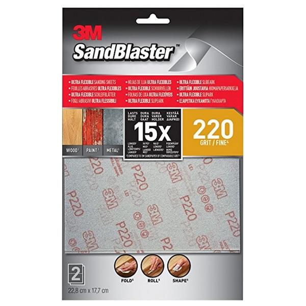 3M Sandblaster Ultra Flexible Schuurvellen 220
