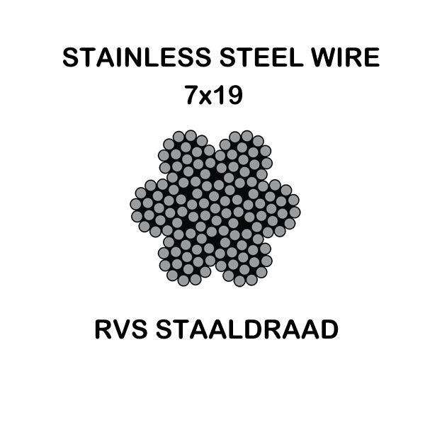 rvs-staaldraad-7×19
