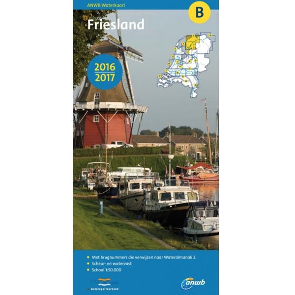 ANWB waterkaart B Friesland