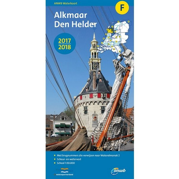 ANWB waterkaart F Alkmaar Den Helder 2017-2018