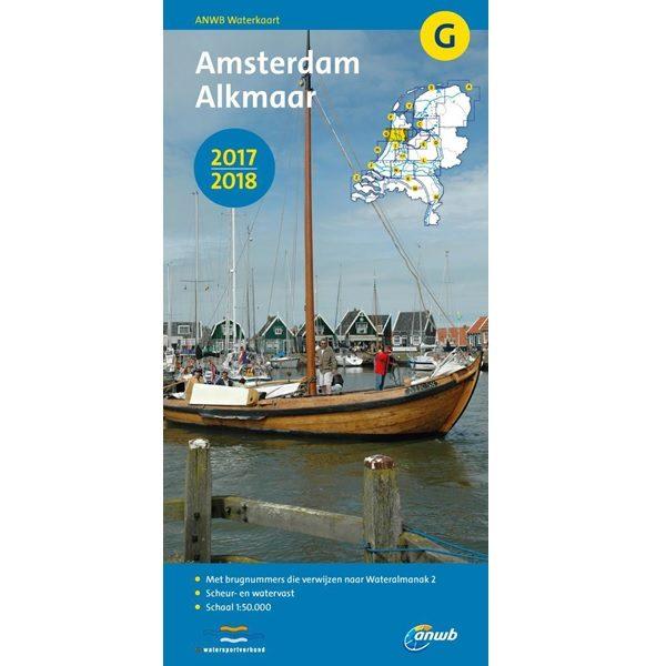 ANWB waterkaart G Amsterdam Alkmaar 2017-2018