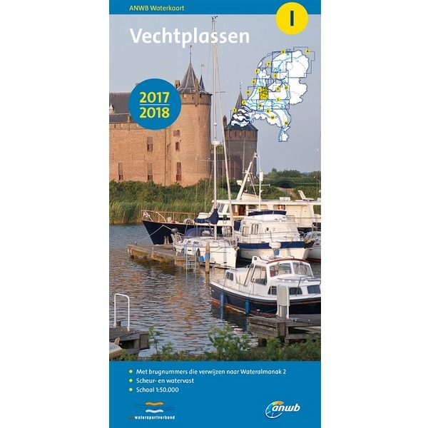 ANWB waterkaart I Vechtplassen 2017-2018