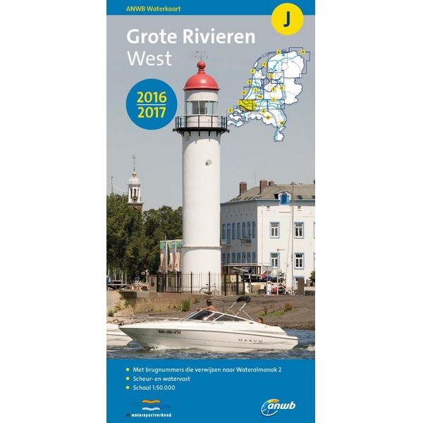 ANWB waterkaart J Grote Rivieren West