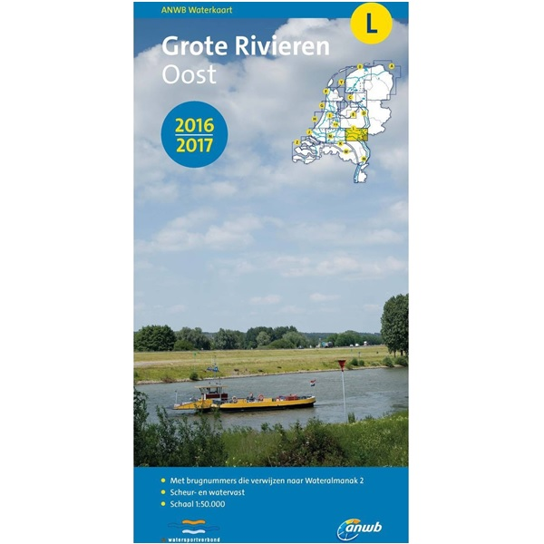 ANWB waterkaart L Grote Rivieren Oost