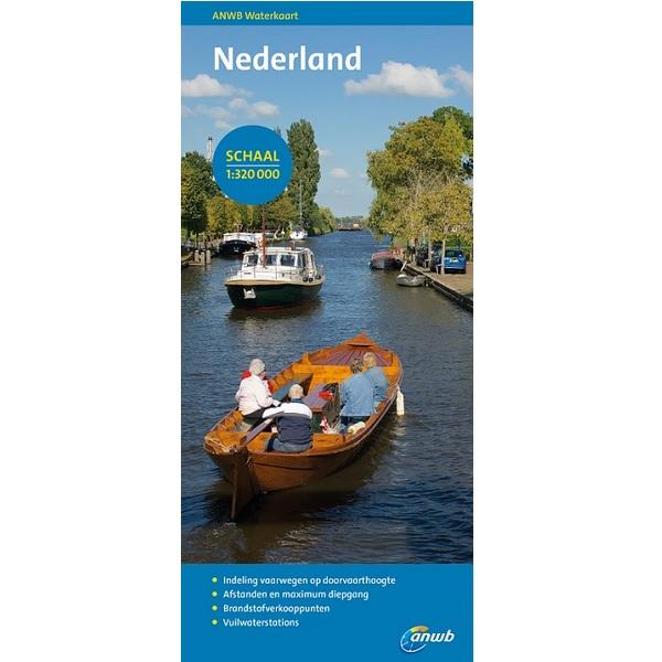 ANWB waterkaart Nederland 2017-2018