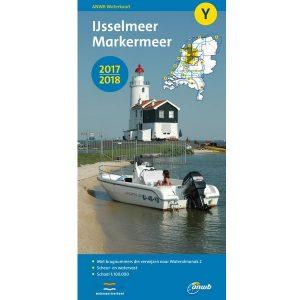 ANWB waterkaart Y IJsselmeer Markermeer 2017-2018