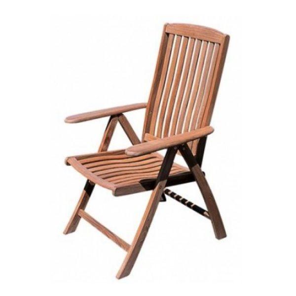 ARC verstelbare teak stoel
