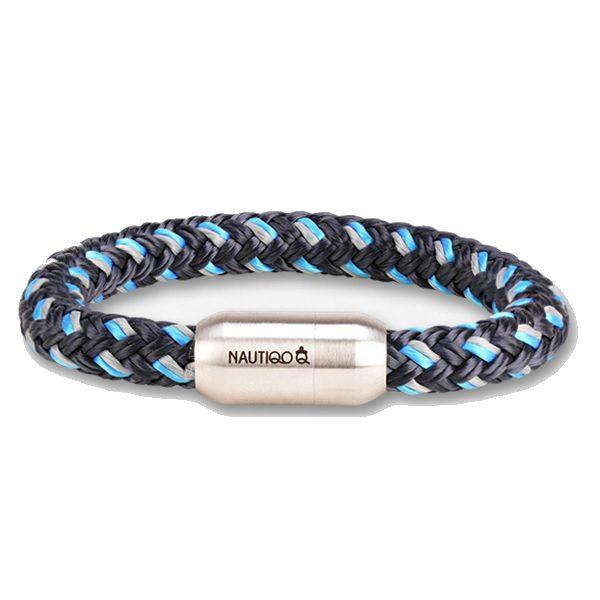 Nautiqo armband Rope blue/grey