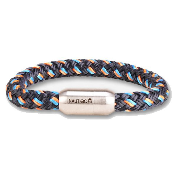Nautiqo armband Rope blue/orange