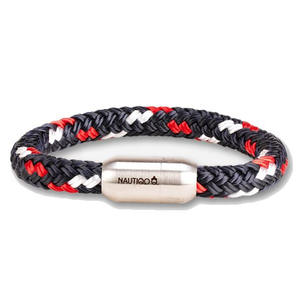 Nautiqo armband Rope red/white