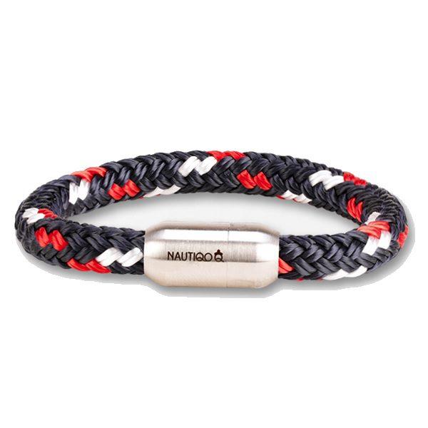 Nautiqo armband Rope red/white