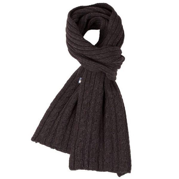 Roosenstein Wolke Cable sjaal bruin