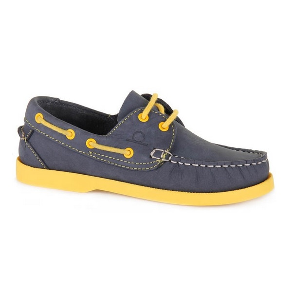 Chatham Henry junior bootschoen navy/geel