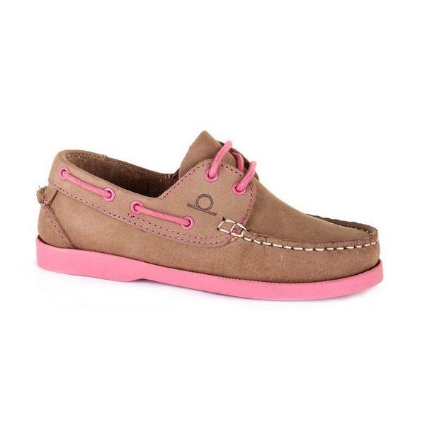 Chatham Henry junior bootschoen beige/roze