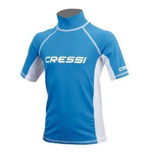 Cressi Rash Guard Top Junior blauw