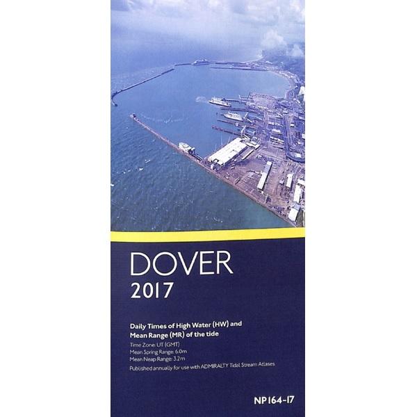Getijtafels Dover 2017