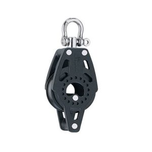 Harken HK2637 Enkel Carbo Blok Met Swivel En Hondsvot 40mm