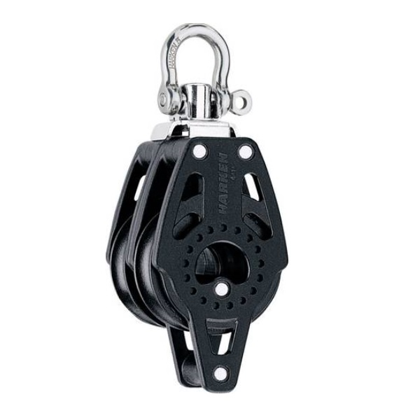 Harken HK2639 Dubbel Carbo Blok Met Swivel En Hondsvot 40mm