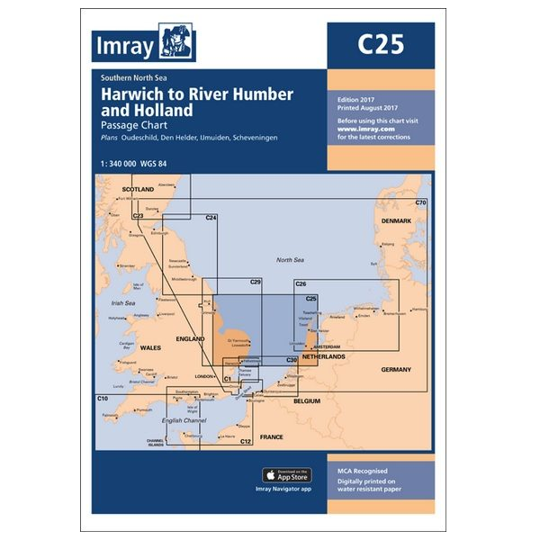 Imray C25 Harwich to Holland