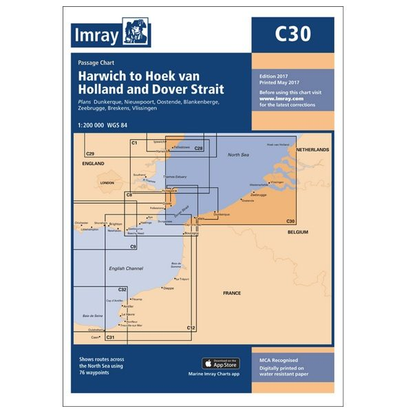Imray C30 Harwich to Holland and Dover
