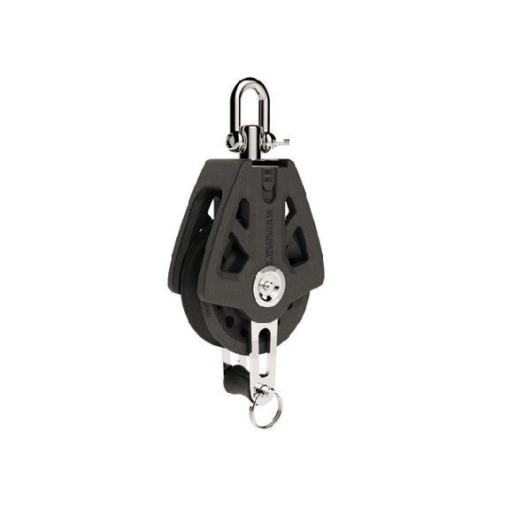 Lewmar Single Blok Met Hondsvot 60mm Black