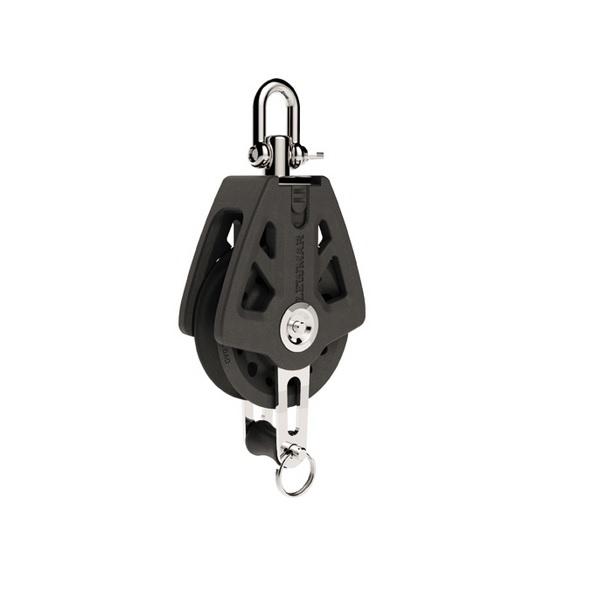 Lewmar Single Blok Met Hondsvot 50mm Black