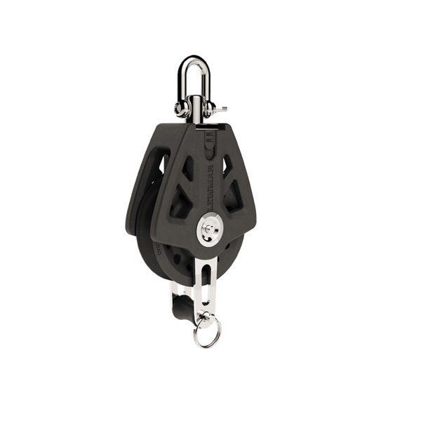 Lewmar Single Blok Met Hondsvot 72mm Black
