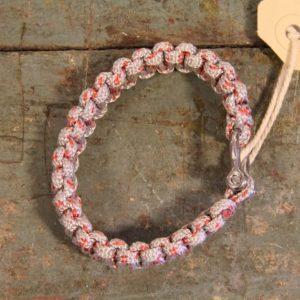 NL armband Dyneema grijs rood